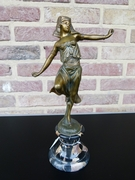 Art-deco Sculpture of a oriental dancing lady by Omerth