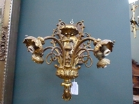 A pair gilded bronze appliques with 5 lamps.